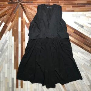 Balenciaga Silk Plunging Neck Line Mini Dress